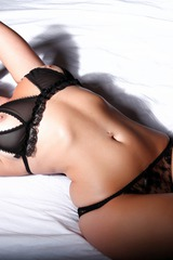 Melissa Debling Rocking Some See Through Lingerie