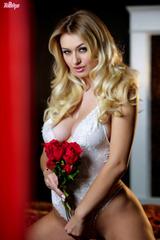 Natalia Starr Seductive In White Lace