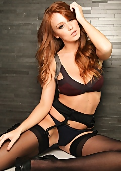 Leanna Decker against the wall