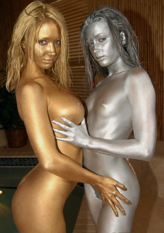 Gold and Silver Bodypaint