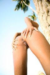 Ashley Bulgari at the beach